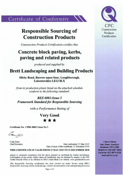 BES 6001: Issue 3
