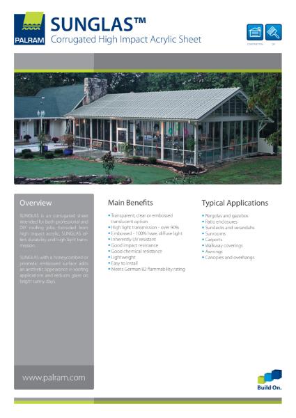 Sunglas - Corrugated High Impact Acrylic Sheet