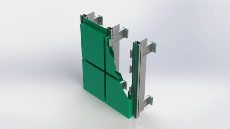 Bailey Synergy™ Hook-on Rainscreen Cassette Panel