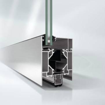 Aluminium fire-resistant door - ADS 80 FR 30