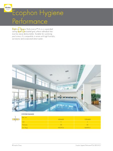 Ecophon Hygiene Performance Ds