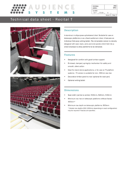 Recital-T Conference Seating