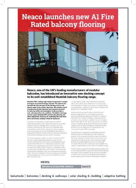 Neaco's new balcony decking concept - Neatdek HW