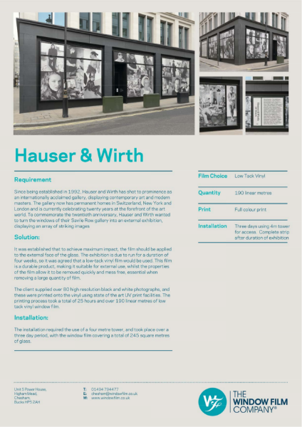 Printed Graphics for Hauser & Wirth