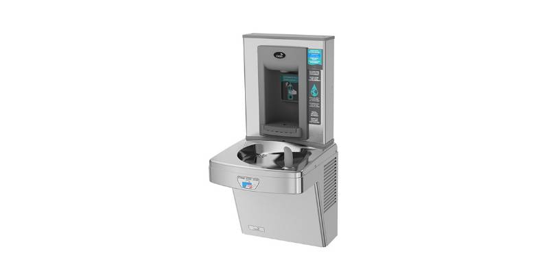 P8EBFTY Wall Mounted Hands-Free Bottle Filler + Hands-Free Drinking Fountain