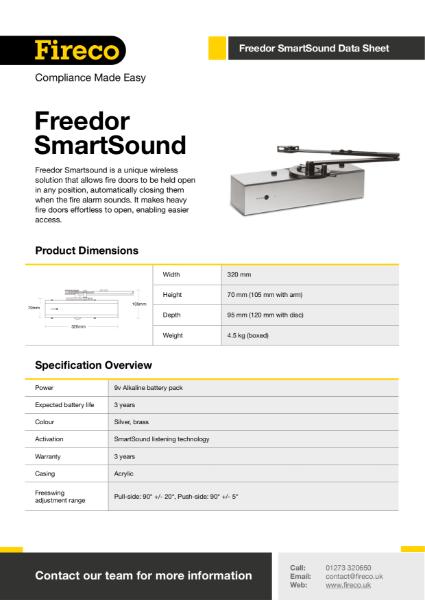 Freedor SmartSound Technical Data Sheet