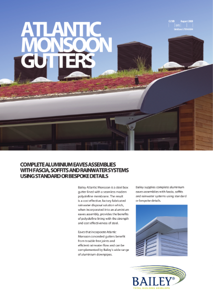 Bailey Monsoon Concealed Gutters