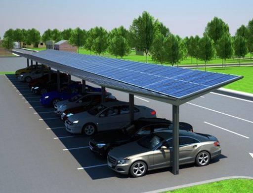Kensington Dual-Pitch Solar Canopy - 20 kWp
