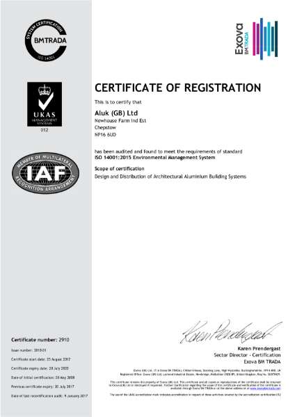 ISO 14001:2018 Certificate
