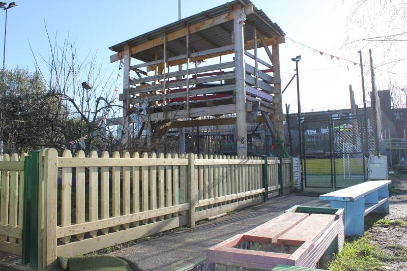 Playtime® Timber fencing and gates create a safe and secure play environment at Lollard Street Playground