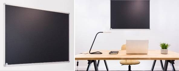 Sundeala Vitreous Enamelled Steel Chalkboard Writing Wall - Aluminium Framed with Magnetic Writing Surface