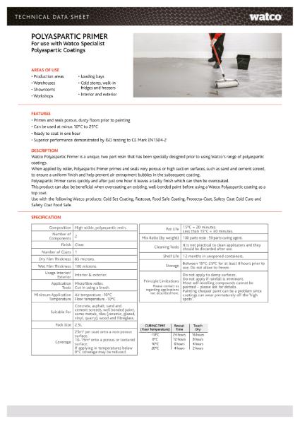 Data Sheet: Polyaspartic Primer