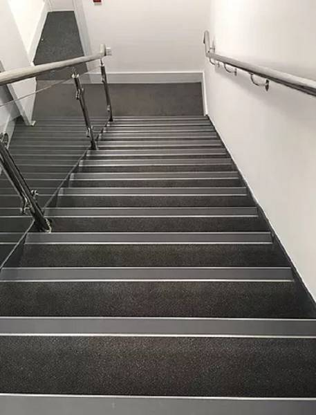 Aluminium Stair Nosings with Stainless Steel Covers