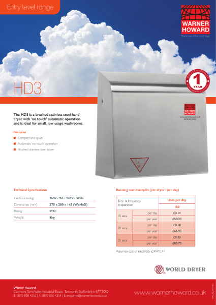 HD3 Hand Dryer