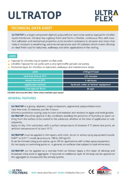 Ultratop - Technical Data Sheet