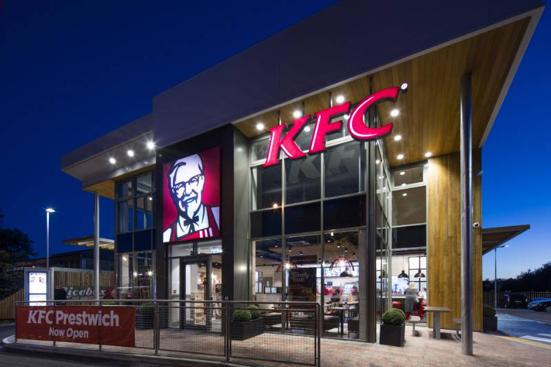 Accoya cladding for the first ever two-storey KFC company store