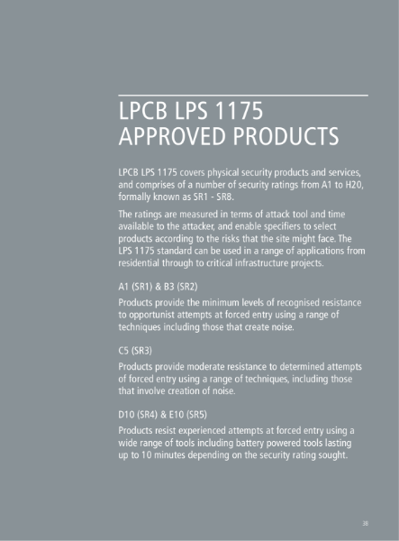 LPCB LPS 1175 Rated Fencing Products