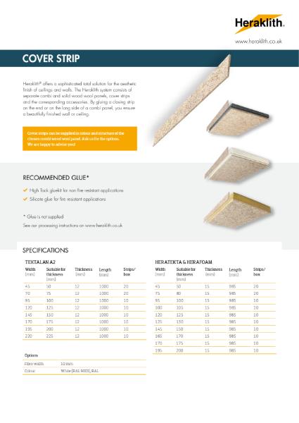 Datasheet Cover Strip Heraklith Wood Wool
