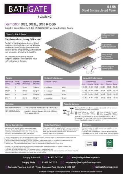 BSEN BG Range Steel Encapsulated Panel