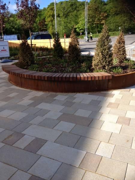 ASF Bespoke Corten Planter / Seat