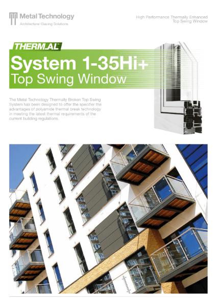 Aluminium Top Swing Window System