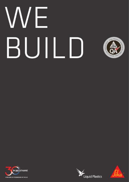 We Build: Quality Assured Contractor Brochure
