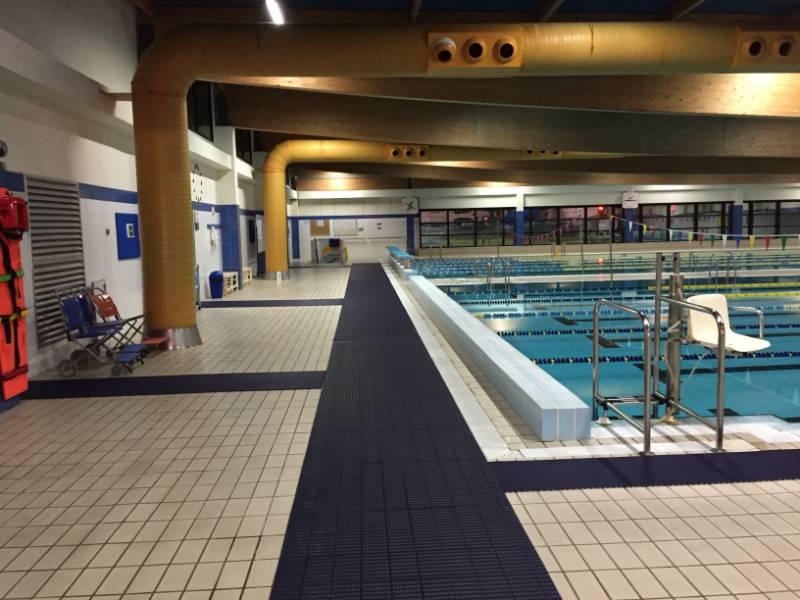 Heronrib provides slip-resistant poolside walkway