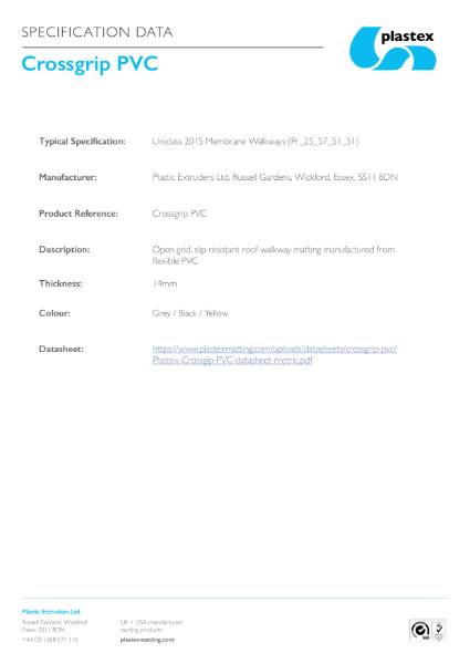 Crossgrip PVC Specification