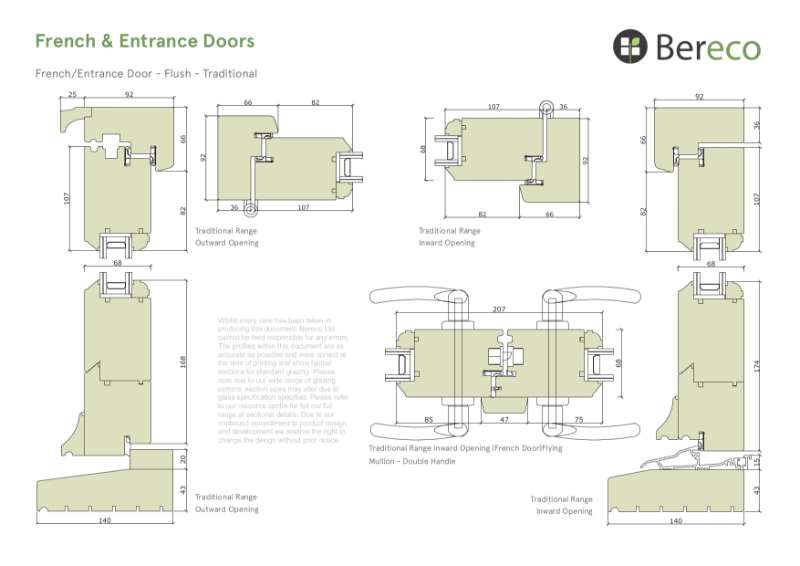 Bereco Entrance Door Sections