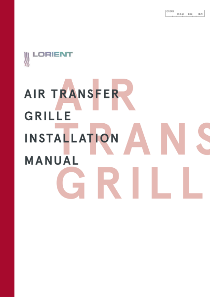 Air Transfer Grille Installation Manual