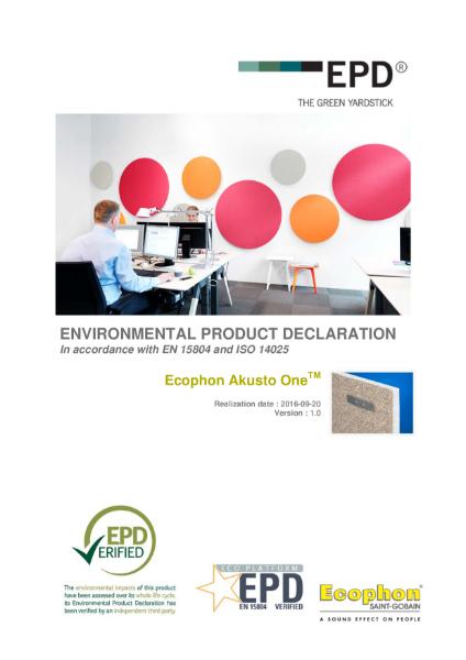 Akusto Environmental Product Declaration