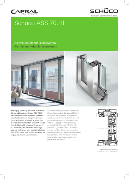 Schuco ASS 70 HI: Aluminium lift and slide system
