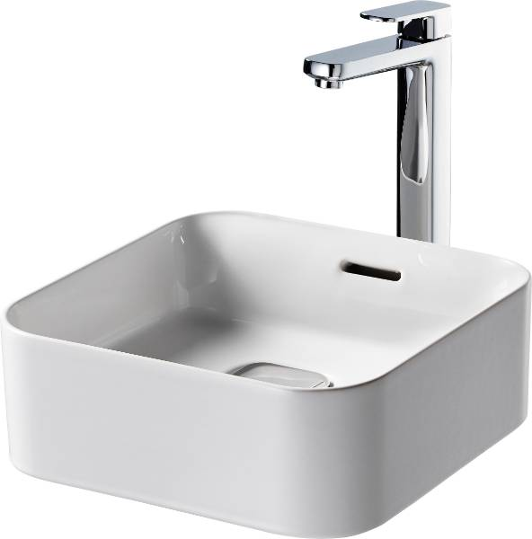 Fusaro Vessel Basin 40 White OF NTH Sqr