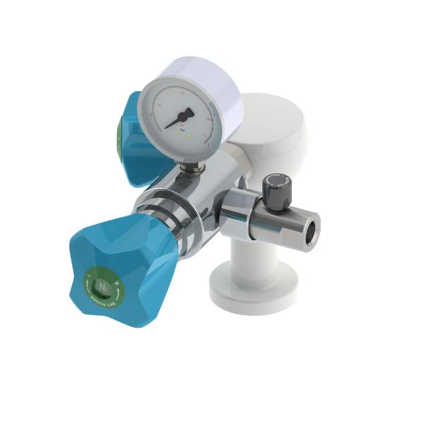 Table Mounted Pure Gas Tap with Isolation, Regulator and Flow Valve