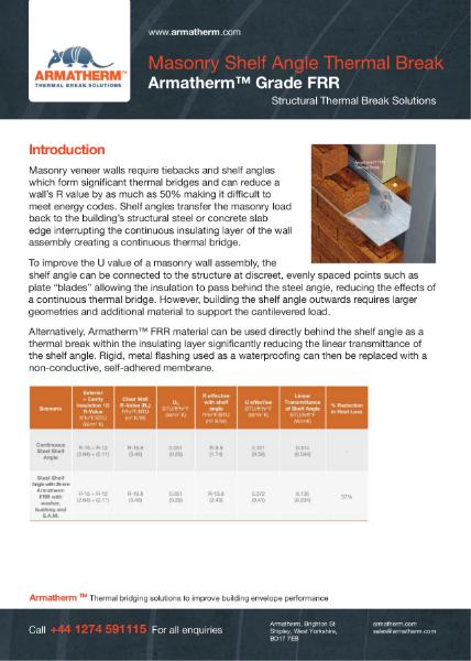 Masonry Shelf Angle Thermal Break - Armatherm