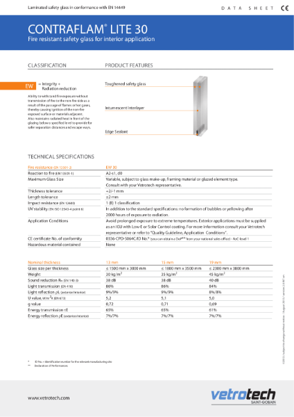 002. Contraflam Lite Datasheets