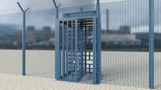 LPS1175 Security Rated Platinum Pedestrian Control Turnstile B3
