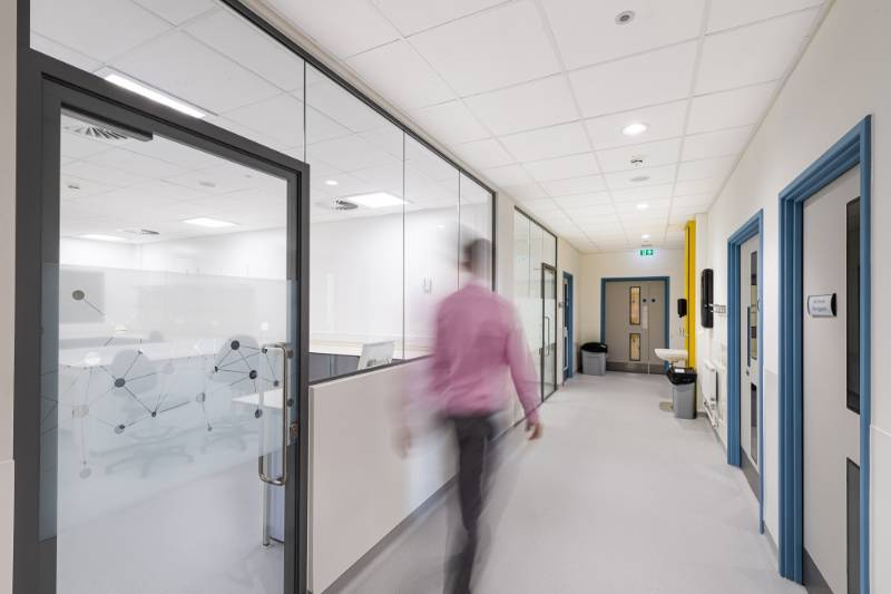 Rockfon is the perfect fit throughout Barnsley Blood Centre
