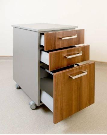 Hygenius® Mobile Pedestal Unit - Desk height mobile pedestal unit