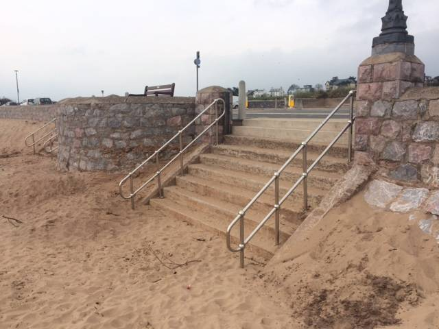 Exmouth Beach Stainless Steel Handrailing