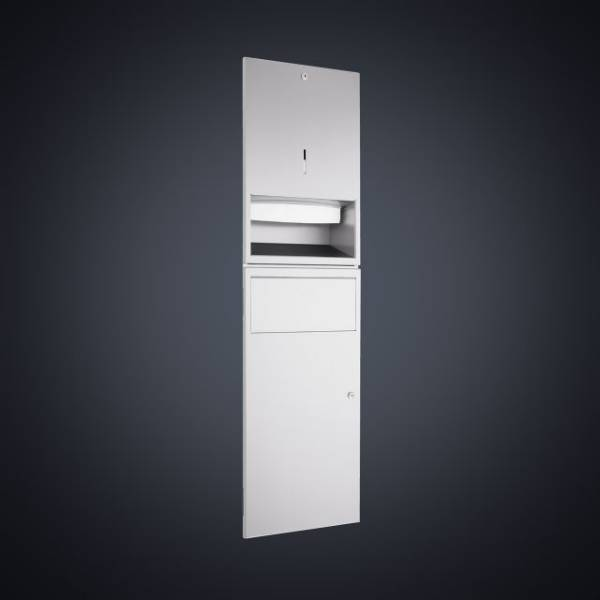DP4306 Dolphin Prestige Towel Dispenser and Waste Bin Combination Unit