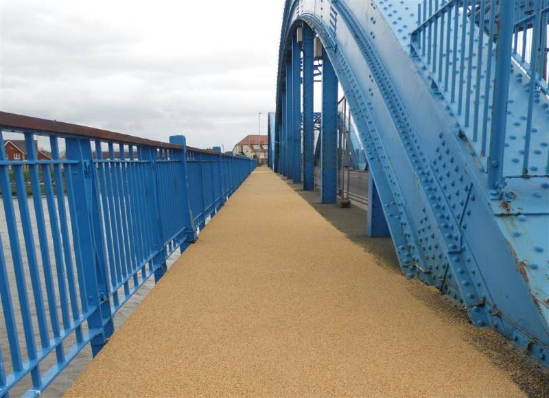 Resubind CP from Sherwin-Williams provides safe textured walkway finish for North Wales bridge footpath