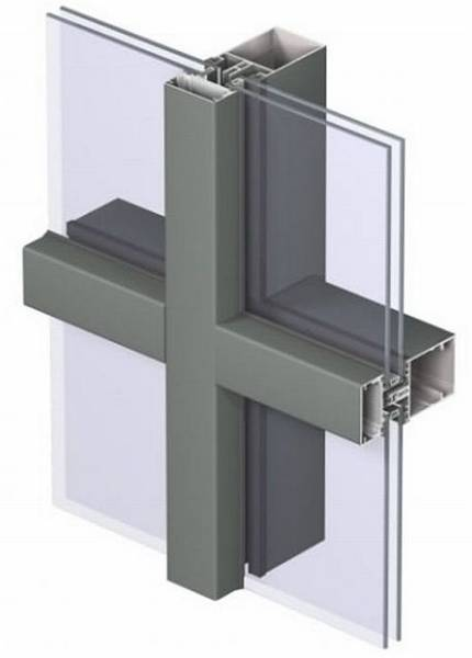 Aluminium Curtain Wall CW 60