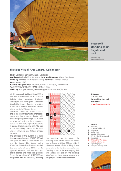 Insulating Standing Seam Façade - Case Study
