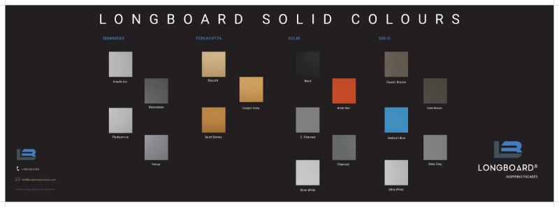 Longboard Colour Chart Brochure