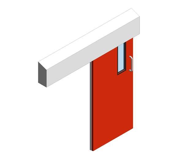 Hygienic Sliding GRP Fire Doors - 120 Min FR