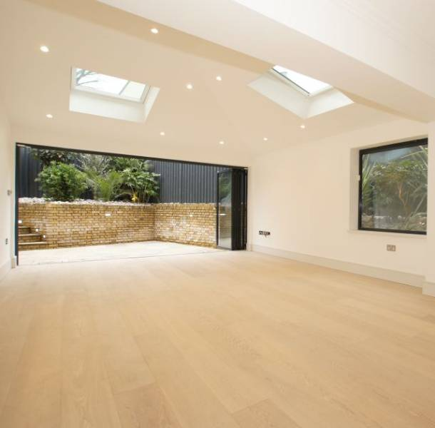 Oak Engineered Wood Flooring, UV Oiled, White Lacquered