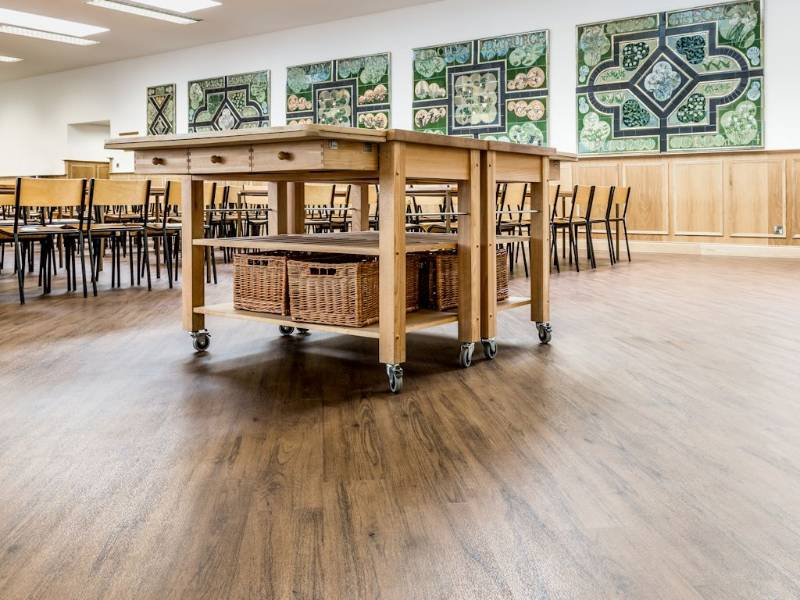 Expona flooring helps refurbished school hall keep its traditional look