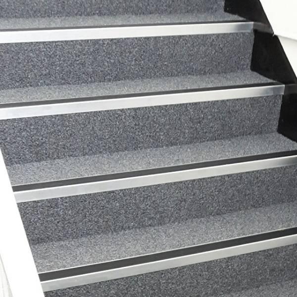 Modern Chrome Effect Stair Nosing / Stair Edging For Internal Use