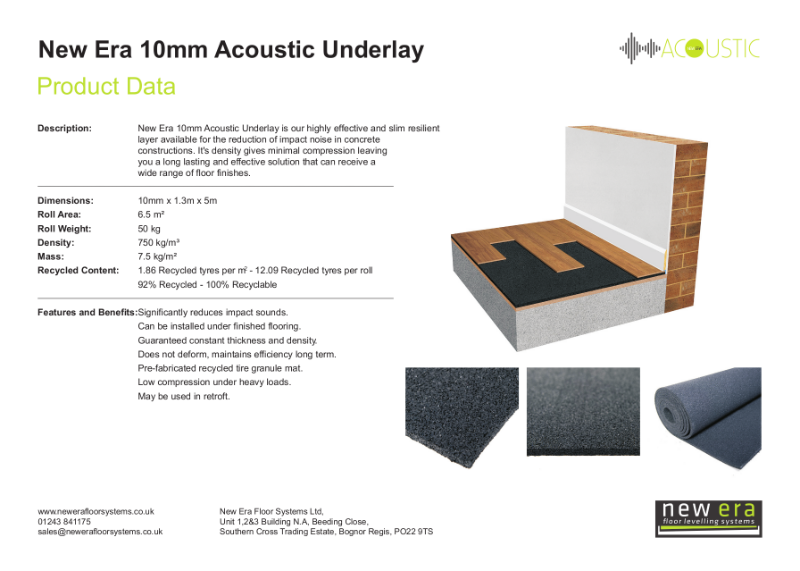 New Era Acoustic underlay 10mm